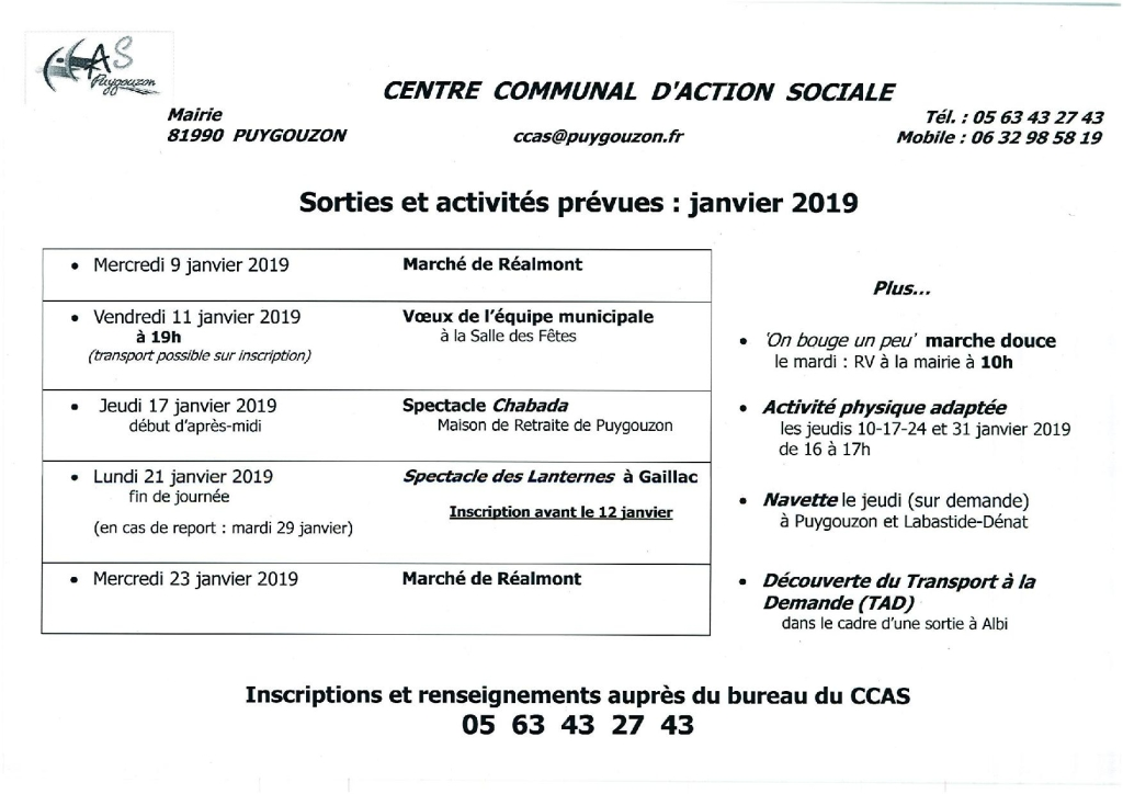 1. CCAS 2019 janvier