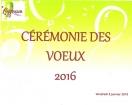 Cérémonie des vœux de la municipalité 2016