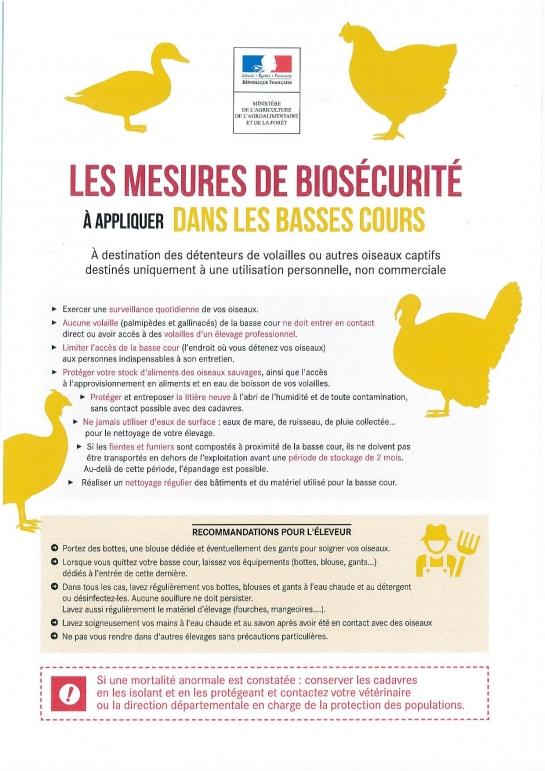 mesures de biosecurité