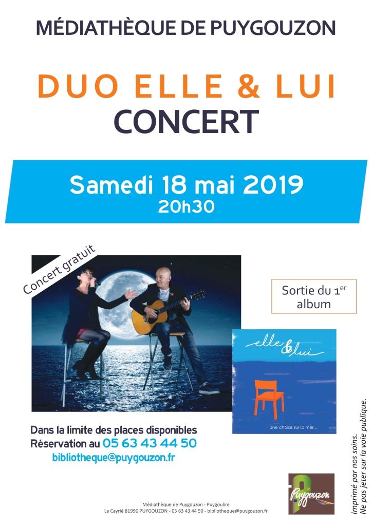Affiche Concert Elle et Lui_Puygouzon