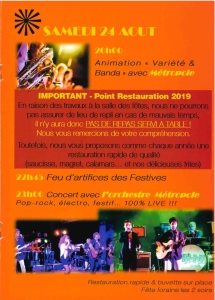 Programme Samedi Festives